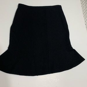 Anthropology- Moth 100% wool black skirt